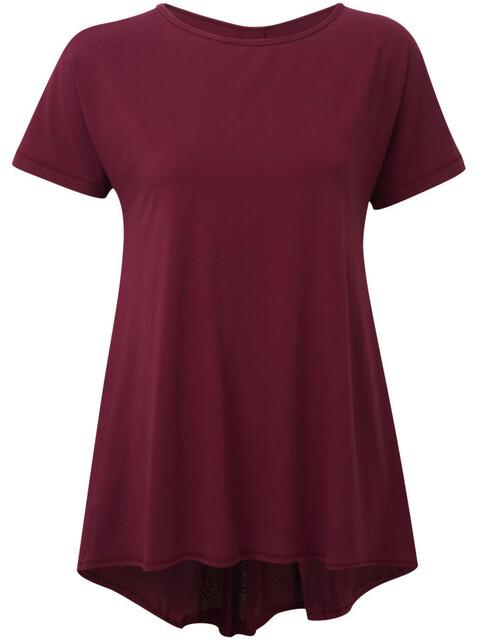 Sherpa Maya - Camiseta manga corta Mujer - rojo